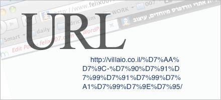 בעיות שנוצרות משימוש בעברית בכתובת URL